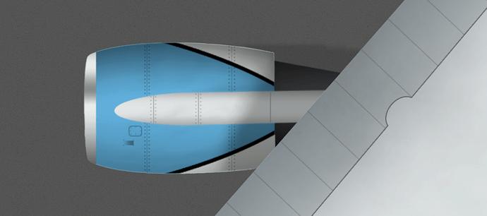 CLM B744 Engine